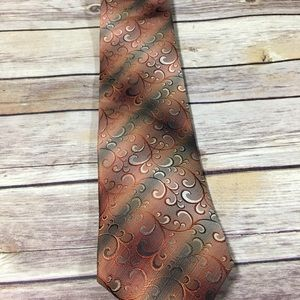 Men's van heusen stain resistant XL orange tie